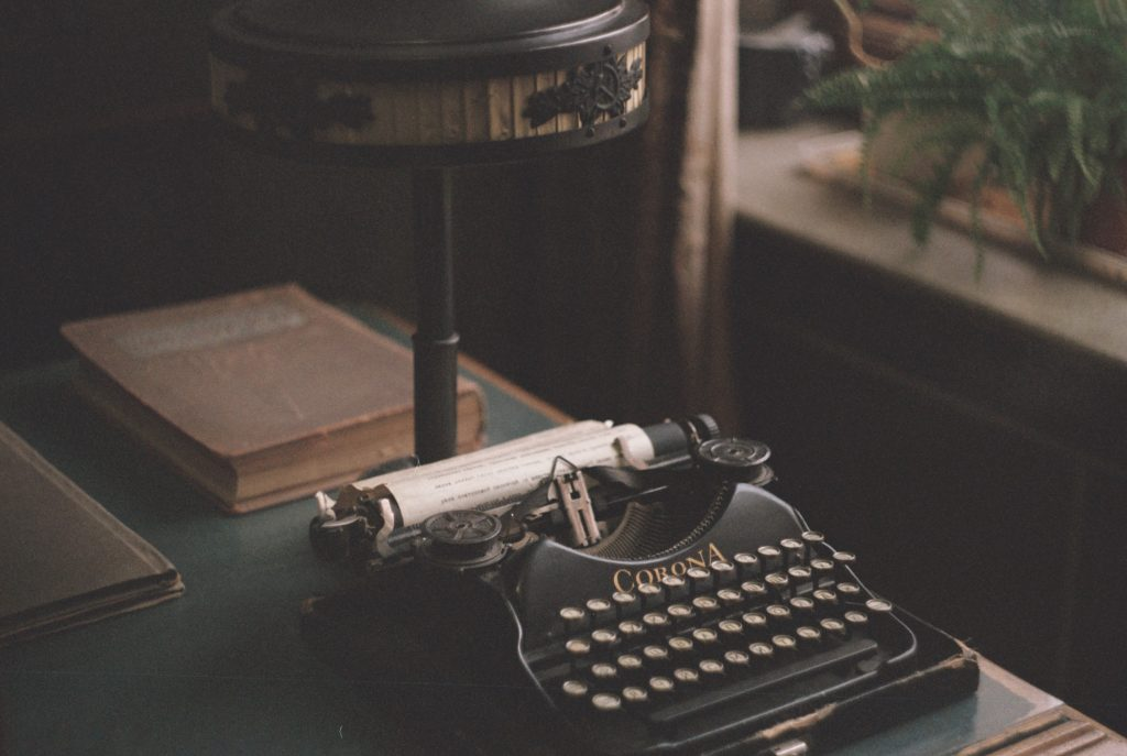 writer's vintage typewriter used by  writer Gillian McIver